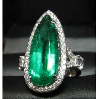 Sold Gia 6.24Ct F1 Emerald & Diamond Ring Platinum by Jelladian
