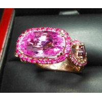 Sold Gia 8.12Ct No Heat Purplish Pink Sapphire Ring 18k By Daniel Arthur Jelladian