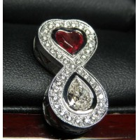 Sold Red Beryl & Diamond Love Infinity Pendant Platinum By Daniel Arthur Jelladian