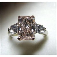 Sold for $115,000 2.77Ct Center Gia Light Pink Internally Flawless Radiant Diamond Ring
