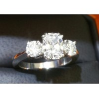 Sold 2.05CT Gia All 3 Stones D Internally Flawless Wedding Ring Platinum