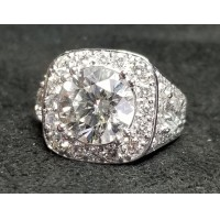 Sold 5.98Ct Mosaic Of Diamonds Wedding Ring 18kwg by Jelladian