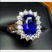 Sold 4.97Ct Gia Royal Blue Sapphire &  Diamond Ring Platinum By Jelladian