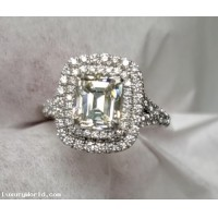 Sold Emerald Cut Diamond Wedding Ring in Platinum by Jelladian I can make you another for your stone